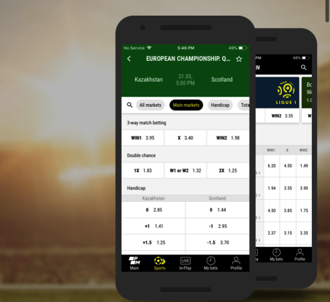 free bets at PariMatch