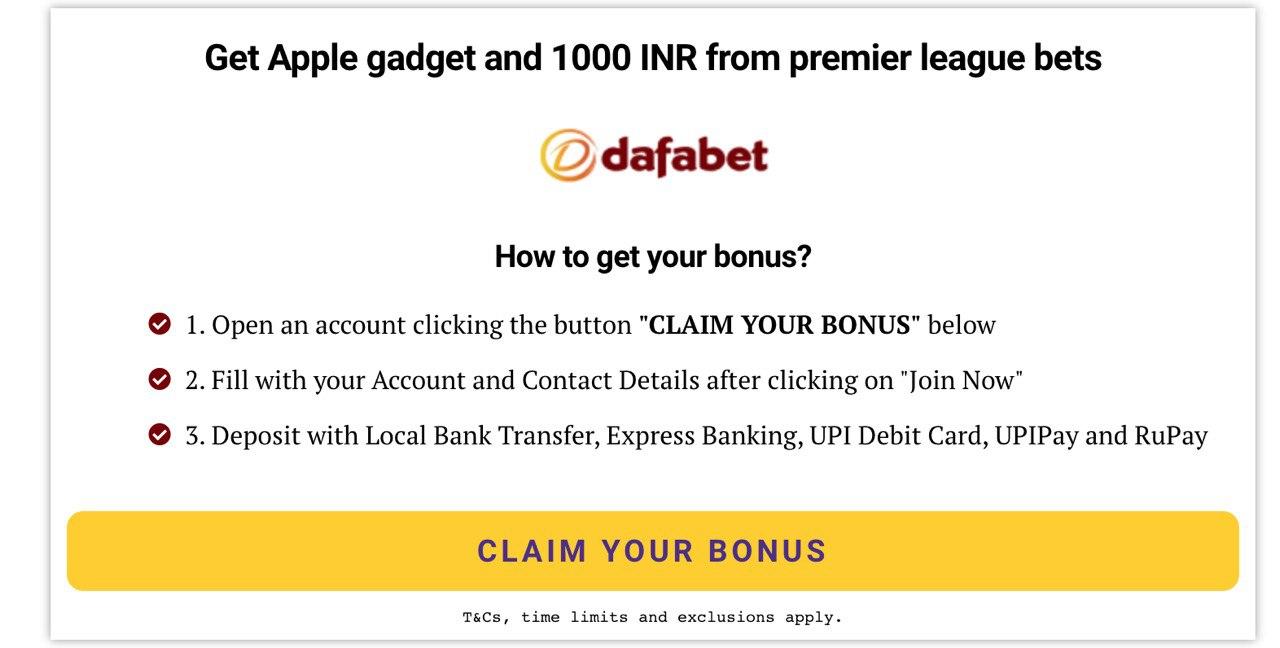 dafabet india